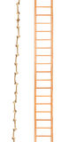 Wooden ladder with rope Royalty Free Stock Photo
