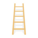 Wooden ladder with shadow vector. Stock Image