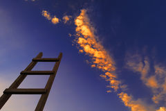 Wooden ladder in sky Stock Photography