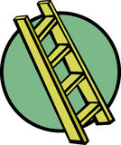Wooden ladder vector illustration Royalty Free Stock Images