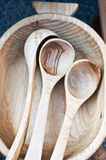 Wooden ladles royalty free stock photography