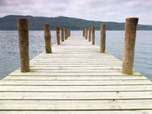 Wooden Lake Pier Stock Images