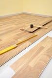 Wooden laminate flooring Stock Image