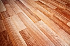 Wooden laminated floor Royalty Free Stock Photos