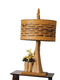 Wooden lamp Royalty Free Stock Photo