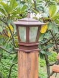 Wooden lamp post Stock Photos