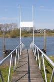 Wooden landing place at riverside Stock Photo