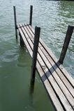 Wooden landing stage. Or pier on lake royalty free stock photo