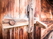 Wooden latch Stock Images