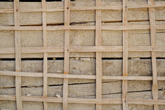 Wooden lath on the wall Stock Images