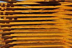 Wooden Laths Stock Photo