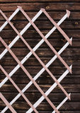 The wooden lattice Royalty Free Stock Photography