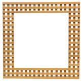 Wooden lattice frame isolated Royalty Free Stock Photos