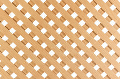 Wooden lattice. Furniture wooden lattice close-up on a white background stock image