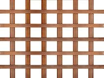 Wooden lattice isolated Stock Photos