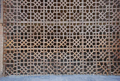 Wooden lattice main entrance portal Bibi Khanum Mosque Royalty Free Stock Photography
