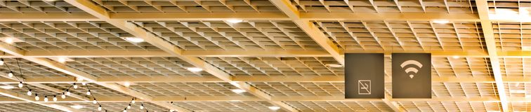 Ceiling. Wooden latticed ceiling close up royalty free stock image