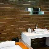 Wooden lavatory Stock Image