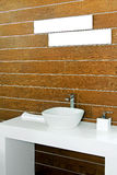 Wooden lavatory Stock Images