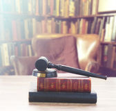 Wooden Law Gavel Royalty Free Stock Photo