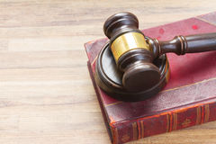 Wooden Law Gavel Stock Image