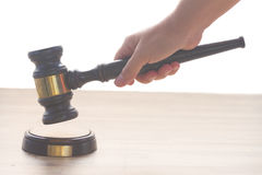 Wooden Law Gavel Stock Photography