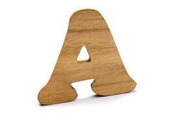 Wooden Letter A Stock Photography