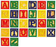 Wooden letter blocks Stock Photography