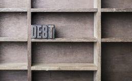 Wooden Letter Debt Stock Photos