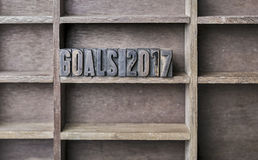 Wooden Letter Goals 2017 Royalty Free Stock Image