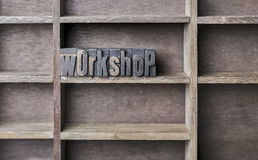 Wooden Letter Workshop Royalty Free Stock Photo