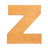 Wooden letter Z Stock Photography