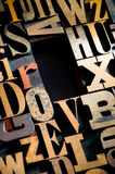 Wooden Letterpress Background With Copy Space Royalty Free Stock Photos