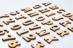 Wooden letters Royalty Free Stock Photo
