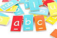 Wooden letters abc Royalty Free Stock Photos