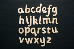 Wooden Letters Alphabet Stock Photography