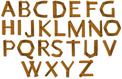 Wooden letters of the alphabet Royalty Free Stock Photos