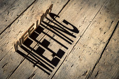 Wooden letters build the word meeting Royalty Free Stock Photos