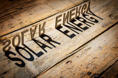 Wooden letters build the word solar energy Stock Photography