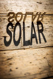 Wooden letters build the word solar Royalty Free Stock Images