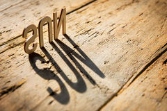 Wooden letters build the word sun Royalty Free Stock Photo