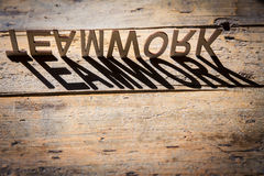 Wooden letters build the word teamwork Stock Photography