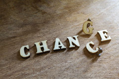 Wooden letters of Chance and Change Royalty Free Stock Photography
