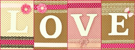 Wooden letters forming word love Royalty Free Stock Image