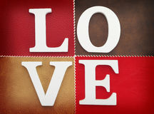Wooden letters forming word love Royalty Free Stock Photography