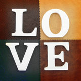 Wooden letters forming word love Stock Photo