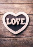 Wooden letters LOVE Stock Image
