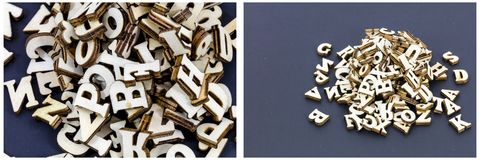Alphabet pile fun learning stock images