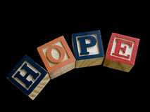 Wooden letters spelling hope Stock Photos