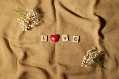 Wooden letters spelling love Royalty Free Stock Image